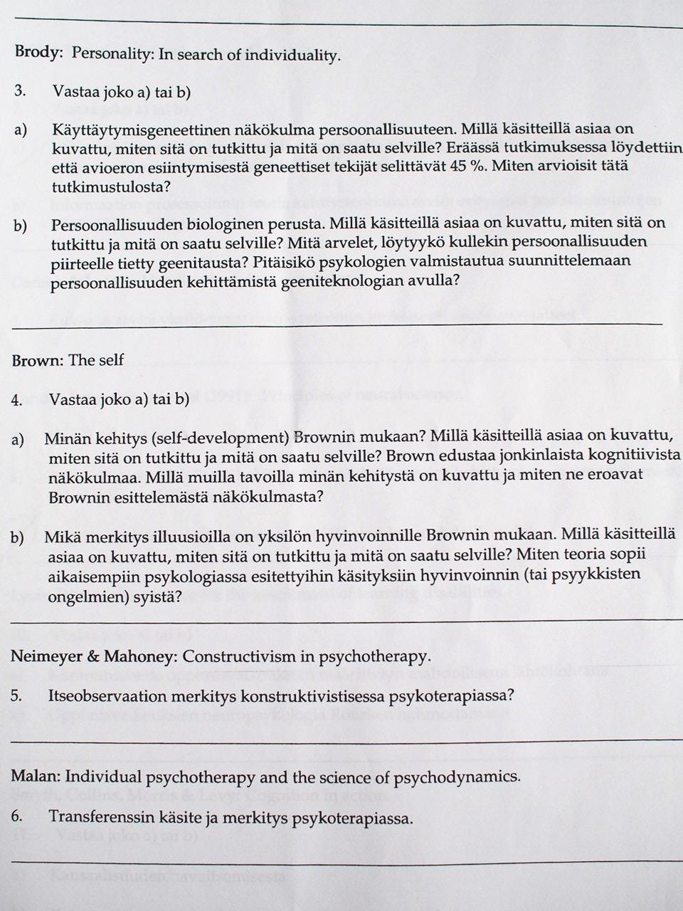 psykologia soveltuvuuskoe jyväskylä